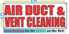 AIR DUCT & VENT CLEANING Banner Sign NEW Larger Size Best Quality for the $$$