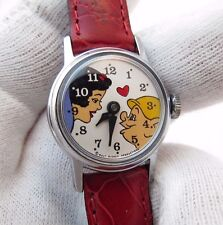 SNOW WHITE, RARE 1960's Dial, Red Band, Manual Wind, KIDS/WOMENS WATCH,875