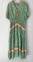 DREAMCATCHER gorgeous Gypsy boho maxi dress with pockets Size 10 & 16 Left