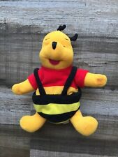 Vintage Winnie the Pooh Mattel 1998 Plush Bumble Bee Bag 8� Rare