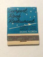 Vintage Matchbook Airport Roof Restaurant Miami International Florida