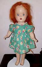 1947 Reliable Maggie Muggins composition doll All Original Antique Red Hair TLC