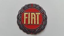 MOTOR RACING CAR SPEED FESTIVAL SEW ON / IRON ON PATCH:- FIAT (b) RED DISC