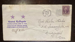 1933 Utica NY Cover - General La Fayette Visit 6/10/1825. Signed Cliff Wells