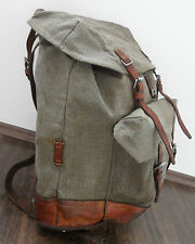 very fine orginal Vintage Swiss Army Backpack year 1972 red leather