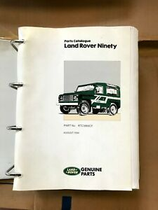 Land Rover Ninety And Defender 90 Parts Catalogue From 1987 To 1994 RTC9868CF
