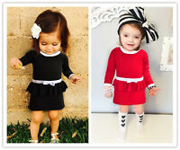 Baby Girl Toddler Knitwear Knit Long Sleeve Dress Autumn Birthday Party Gift