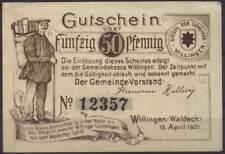 [11961] - NOTGELD WILLINGEN, Gemeinde, 50 Pf, 15.04.1921, Tieste 7955.05.01 (= 1