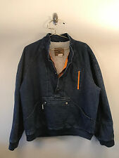 MENS MEDIUM VINTAGE LEVI'S JEAN JACKET TRUCKER SHERPA LINED SILVER TAG GUC