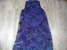 COMMA schönes Seidenkleid lila blau gemustert Gr. 36 TOP ZT118