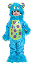 Boys Girls Toddler Blue Monster Costume Fancy Dress Up Halloween Outfit NEW 1-2