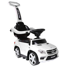 Best Ride On Cars 4 in 1 Mercedes Push Car, Stroller, & Rocker, White (Open Box)