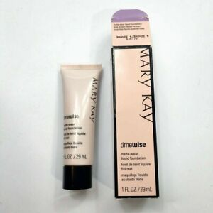 Mary Kay Timewise Matte-Wear 1oz Liquid Foundation 038770 Bronze 6  New in Box