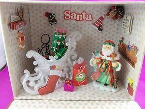 Dollhouse Miniature Santa Preparing for Takeoff Roombox Scenario