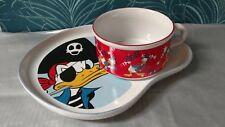 Set Grande tasse à chocolat et assiette soucoupe , Donald Duck Disney