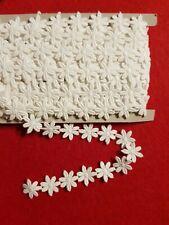 1 m Passamaneria con fiore margherite pizzo colore bianco altezza 2 cm cotone