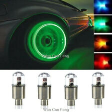 Universal Wheel Tyre Tire Air Valve Stem Cap Green LED Light Lamp Bulb 4 pcs/1