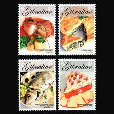"""Gibraltar 2005 - Europa Stamps """"Gastronomy"""" Foot - Sc 1010/3 MNH"""