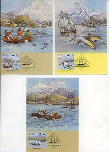 Australia Maxi cards  - 1987 First  Fleet Teneriffe (3)