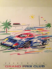 "1991 PALM BEACH ""GRAND PRIX"" Poster-22"" X 18""-Sponsored by Perry Ellis-""RARE"""