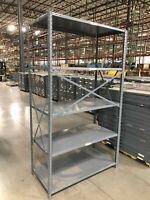1 Row 20' long (5 sections) 4'W x 2'D x 7'T Steel Shelving w/5 shelves per unit