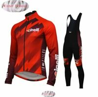 2019 Cinelli Cycling Winter Thermal Fleece Clothes Set Men Warm Jersey Jacket