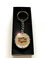 CADILLAC Key Chain Keychain Silver with Box