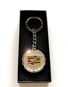 CADILLAC Key Chain Keychain Silver with Box