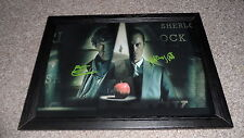 "SHERLOCK & MORIARTY PP SIGNED & FRAMED 12""X8"" A4 POSTER BENEDICT CUMBERBATCH"