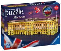 12529 Ravensburger Buckingham Palace Night Edition 3D Jigsaw Puzzle 216 Pieces