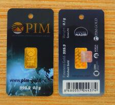 PIM Nadir 1/10 Gram 24k 999.9% Fine Gold Bar With Serial Number On Hologram.