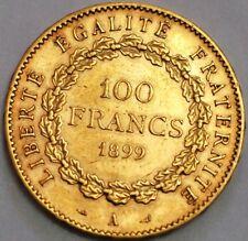 100 Francs 1899 Gold Coin France KM# 832