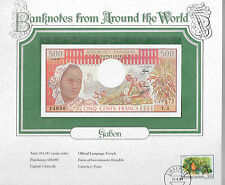 World Banknotes Gabon 500 Francs 1978 P2b Unc Serie V.3 sign 9