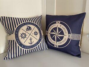 "Nautical 18""x18"" Throw Pillow Covers"