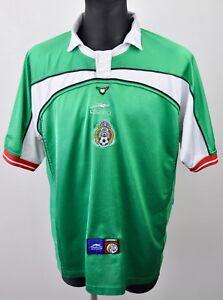 MEXICO National Football Home 2000 2001 Shirt Men XL Jersey Trikot Mallot Soccer