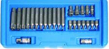 BGS 26x Torx Bit Nuss Satz T10-T70 BOHRUNG T-Profil Nüsse Steckschlüssel Bits TX