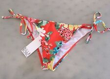 NEW! Jrs BILLABONG 'Fantasy Tropic' String Bikini Bottoms, S - Grenadine