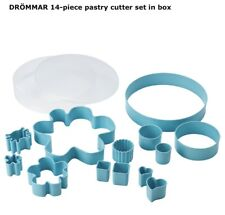New listing DrÖMmar 14-piece Pastry Cookie Cutter set in Light Blue Box - New from Ikea