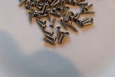 25 NEW STAINLESS STEEL PICK-GUARD SCREWS for FENDER JAZZ BASS & P-BASS BUILD