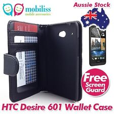 HTC Desire 601 PU Leather Wallet Case Cover Wallet Card Holders Screen Protector