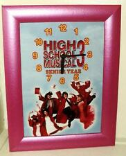 HIGH SCHOOL MUSICAL 3 POTRAIT BEDROOM  WALL PICUTURE ANALOGUE CLOCK
