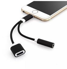 iPhone 7 lightning to 3.5mm Aux Headphone Jack Audio Adapter for 7 Plus Black