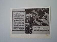 advertising Pubblicità 1939 ZEISS IKON IKOFLEX III 6X6