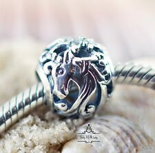 Genuine SOLID  925 Sterling Silver charm bead Unicorn fairytale fits bracelet SS