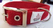 Red Harris Tweed dog collar various sizes