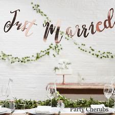 Just Married Garland - Rose Gold  Wedding Venue Backdrop