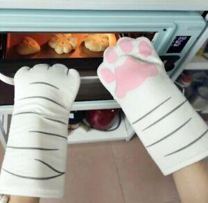 1 Paar Ofenhandschuhe / Backhandschuhe / Topfhandschuhe aus Baumwolle