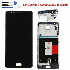 For OnePlus 3 3T LCD Display Frame +Button Touch Screen Digitizer Replacement UK