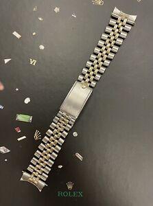 Rolex Datejust 36mm Men's 14k Yellow Gold/SS Jubilee Band 1601 1603U.S.A. Trim