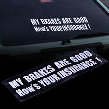 MY BRAKES ARE GOOD Auto Tattoo Fenster Decal Aufkleber Dekor Car Sticker Emblem